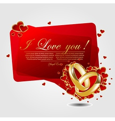 romantic background with heart vector image vector image