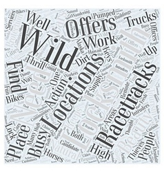 Wild Locations for Locksmiths Word Cloud Concept vector image