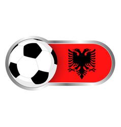 albania soccer icon vector image vector image