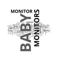 baby video monitors text word cloud concept vector image vector image