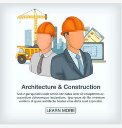 building process concept team cartoon style vector image
