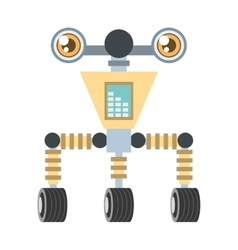 futuristic robot circuit electrical vector image