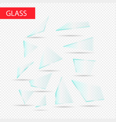 glass pieces transparent glass vector image vector image