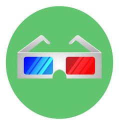 Glasses for 3D movie icon vector image