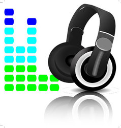 Headphones equalizer vector image vector image