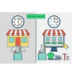 online shopping advantages vector image vector image