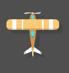Orange airplane top view and vector