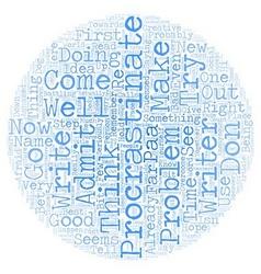 Procrastinators anonymous paa text background vector