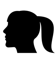 Silhouette of a woman head vector image vector image