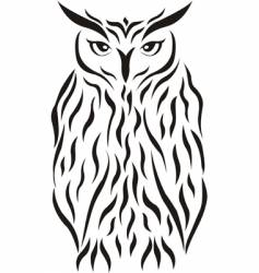 tribal eagle-owl tattoo vector image vector image