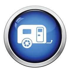 Camping family caravan car icon vector image