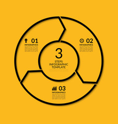 Infographic circle template with 3 steps vector image vector image