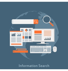 information search vector image vector image