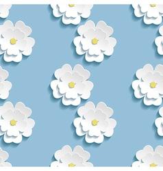 Modern background seamless pattern with 3d sakura vector image