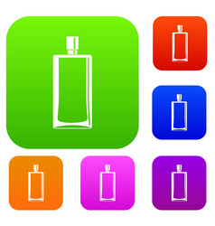scent bottle set color collection vector image vector image