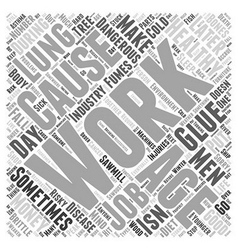 The Work Environment in Healthy Aging Word Cloud vector image vector image