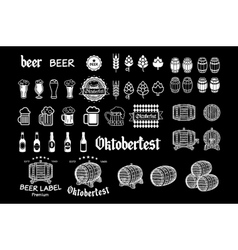 Vintage craft beer brewery emblems labels and vector image vector image
