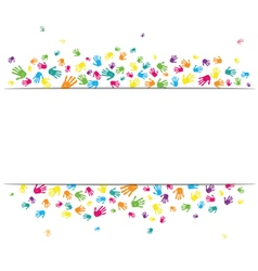 Abstract hands background vector