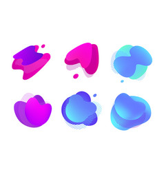 abstract liquid shape set vector image