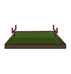 american football field icon vector image