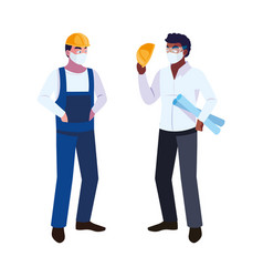 Architect and operator with mask vector