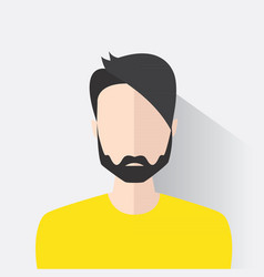 Avatar man in modern flat design vector