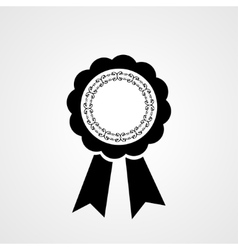 Award ribbon icon Flat design style vector
