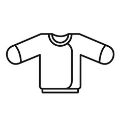 baby sweater icon outline style vector image