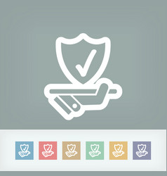 best protection service icon vector image