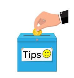 Blue tip box full cash vector