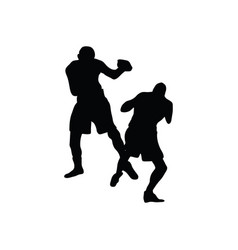 boxing silhouette vector image
