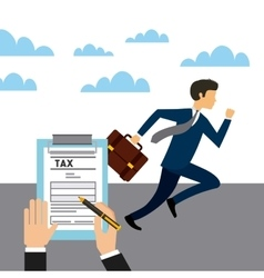 Business and tax design vector