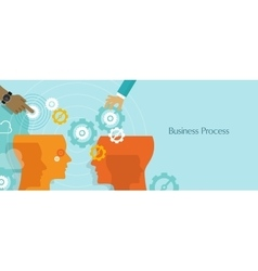 business process gears management work flow vector image