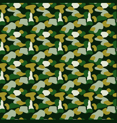 Camouflage spots green seamless pattern vector