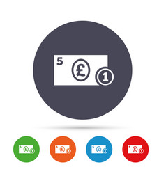 Cash sign icon pound money symbol coin vector