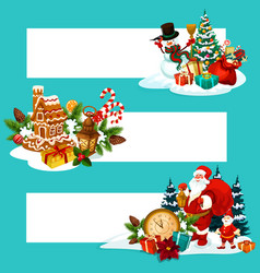 christmas holiday gift banner with copy space vector image