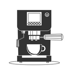 coffee maker machine icon flat simple vector image