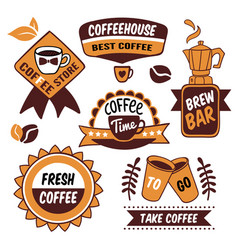 Coffee to go logos vector