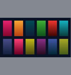 Colorful set gradients design vector