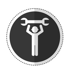 Construction worker with wrench avatar vector