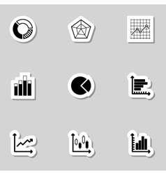 Diagram Icons Set as Labes vector