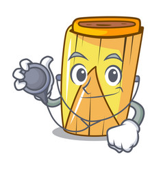 Doctor homemade wrapped tamales isolated on mascot vector