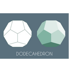 Dodecahedron platonic solid sacred geometry vector