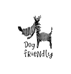 Dog friendly sign vector