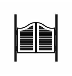 Doors in western saloon icon simple style vector image