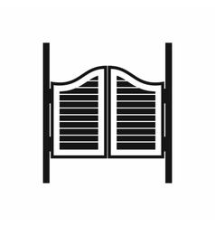 Doors in western saloon icon simple style vector