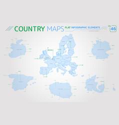 european union ireland spain denmark poland vector image
