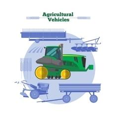 Farm machines flat design vector