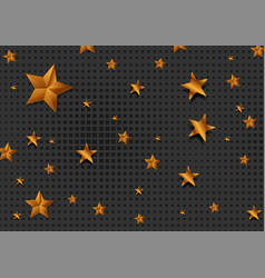golden and bronze stars abstract background vector image