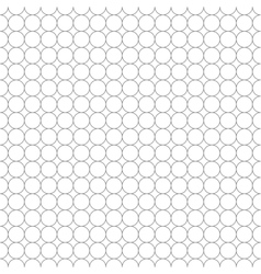 gray grid made up five millimeters circles vector image